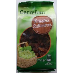 Fruits secs raisins sultanines