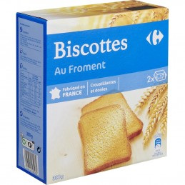Biscottes au froment CARREFOUR