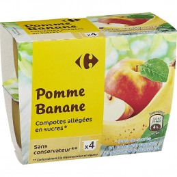 Compote pomme banane CARREFOUR