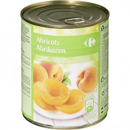 Fruits au sirop abricots...