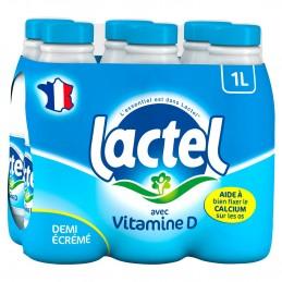 Lait demi-écrémé Lactel