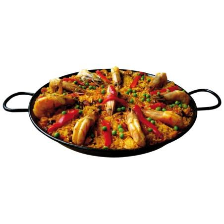 Plat cuisiné paëlla  poulet fruits de mer