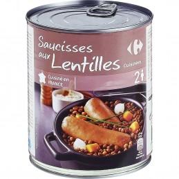 Saucisses Lentilles
