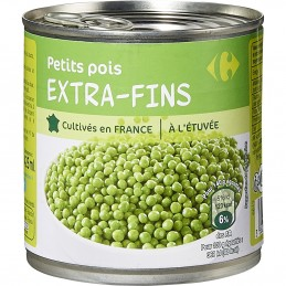 Petits pois extra-fins...