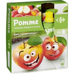 Compotes pomme  CARREFOUR